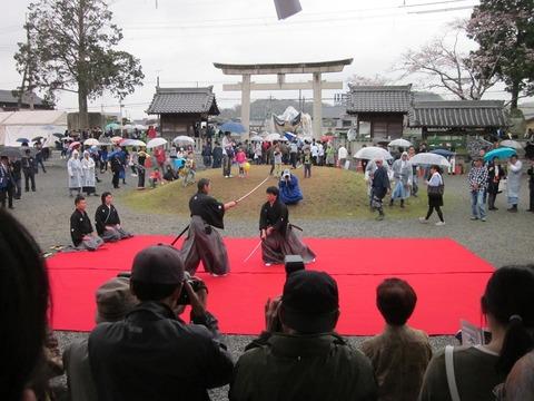 北条節句祭り奉納居合演武(平成28年)